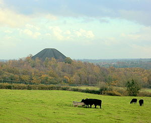 Midsomer Norton - The spoil heap, or batch, from local collieries, north east of the town.