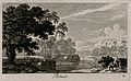 Bathers in a lake; representing August. Etching by G. Perell Wellcome V0007629ECL.jpg