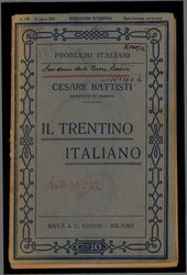 Cesare Battisti: Il Trentino, cenni geografici, storici, economici