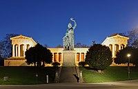 Bavaria Statue and Ruhmeshalle Munich, April 2019 -02.jpg