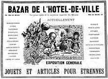 Bazar de l 39 h tel de ville wikip dia - Bazar de l electricite paris ...