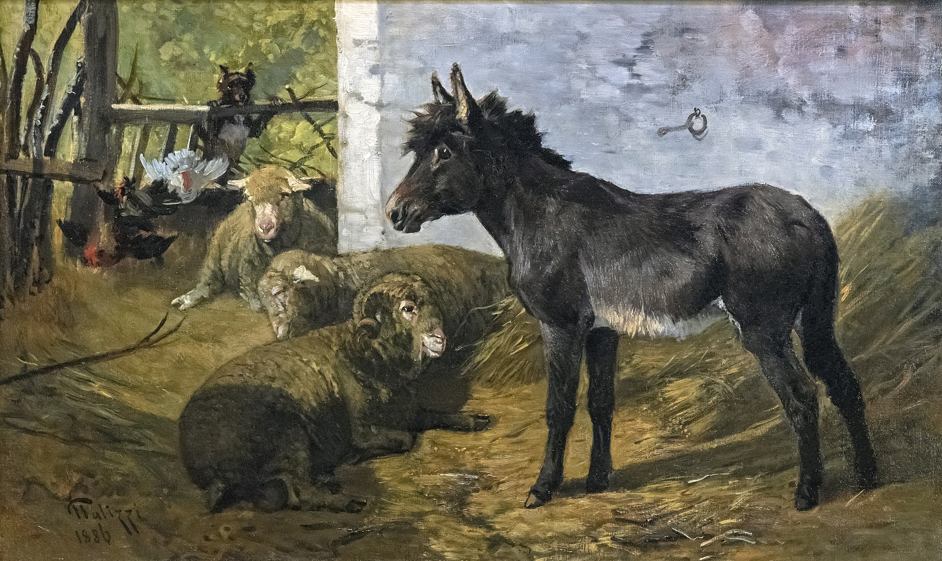 Beaux-Arts de Carcassonne - Intérieur de bergerie 1886 - Giuseppe Palizzi.jpg