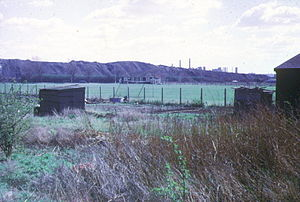 Beckton Gas Works - Beckton Alps and Gas Works 1973, from the A13