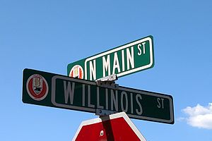 Beebe, Arkansas - Street signs in downtown Beebe