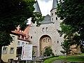 Beim 366 km langen Neckartalradweg, Kloster Bad Wimpfen, Ritterstiftskirche Sankt Peter mit Kreuzgang - panoramio.jpg