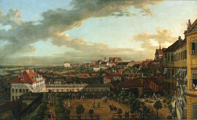 Vue de Varsovie depuis les terrasses du Chateau Royal par Bellotto (appellé Canaletto)