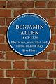 Benjamin Allen blue plaque.JPG