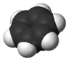 Space-filling model of benzene