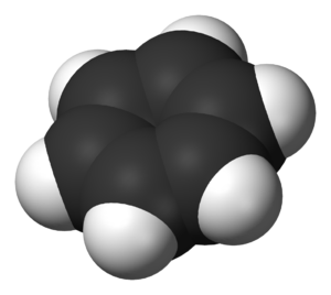 Deuterated benzene - Image: Benzene 3D vd W