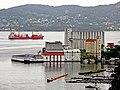 Bergen - Hegreneset valsemølle ved Nyhavn fra Fjellveien.jpg