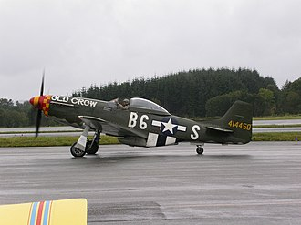 William Anders - Bill Anders taxiing a P-51 Mustang at Bergen Air Show in 2005