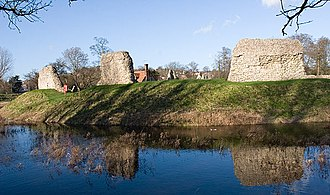 Berkhamsted Castle - Exterior walls, seen across the moat