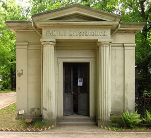 Eilhard Mitscherlich - Mitscherlich's mausoleum at the Alter St.-Matthäus-Kirchhof in Berlin