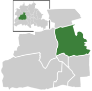 Location of Charlottenburg in Berlin