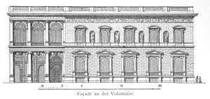 Borsig Palace - Voßstraße facade of the Borsig Palace