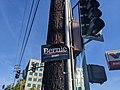 Bernie 2020 sign on a telephone pole, Burbank, California, USA (49465020907).jpg