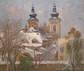 Bertha von Tarnoczy – View of the Ursuline Church in Linz.jpg