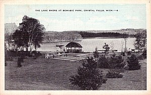 National Register of Historic Places listings in Iron County, Michigan - Image: Bewabic Park c 1940