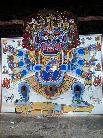Chandeshwari - Image: Bhairab painting of Chandeswori temple