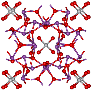 Bismuth silicon oxide - Image: Bi 12Ti O20 structure