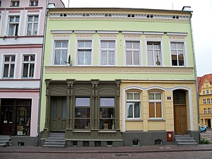 Białogard - Some of the historical tenements in the Old Town