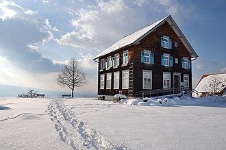 Municipality (Austria) - Town hall of Bildstein, Vorarlberg, population ca. 700