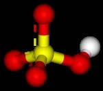 Molekylmodell, vätesulfat
