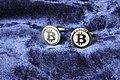 Bitcoin cufflinks.JPG