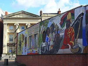 English: Black History Mural, Reading This sho...