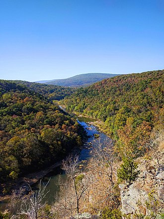 Black Mountain (Missouri) - Black Mountain, with the St. Francis River in the foreground