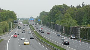 Highway - An Autobahn in Lehrte, near Hanover, Germany—a busy, high-capacity motorway.