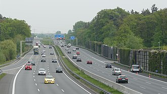 Highway - An Autobahn in Lehrte, near Hanover, Germany—a busy, high-capacity motorway.