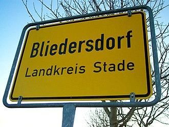 Bliedersdorf - Image: Bliedersdorf Ortsschild