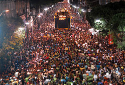 Salvador's streets packed for the Carnival celebrations!