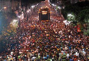 Bahian Carnival - Carnival parade in Salvador, Brazil