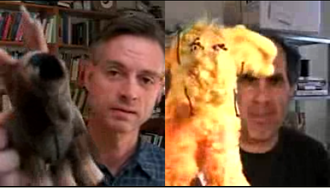 Bloggingheads.tv - Wright and Kaus compare stuffed moose visual aids.
