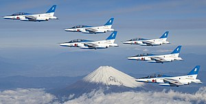 Blue Impulse - Image: Blue Impulse Mount Fuji over
