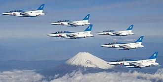 Blue Impulse - Image: Blue Impulse Mount Fuji over