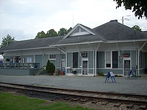 National Register of Historic Places listings in Fannin County, Georgia - Image: Blue Ridge Depot, Blue Ridge (Fannin County, South Carolina)