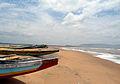 Boats at Bhimili beach Visakhapatnam District.JPG