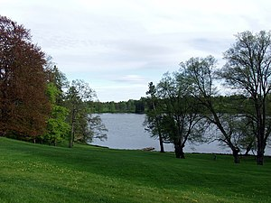 Bogstadvannet - View of the lake from Bogstad manor