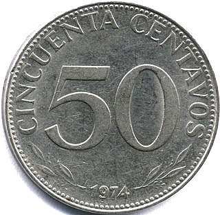 Bolivian peso Former currency of Bolivia