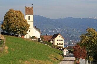 Bollingen - Bollingen, Schmerikon and Uznach in the background