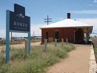 Bomen, New South Wales - Bomen Railway Station with part of Industrial Area in background