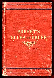 Essay robert rules of order