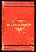 1876 cover of Robert's Rules of Order , a book...