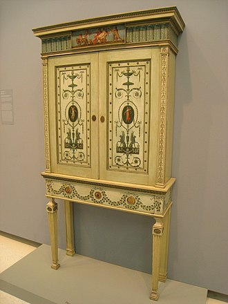 Louis XVI furniture - Image: Bookcase, Robert Adam (1728 1792), 1776 IMG 1604