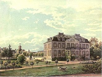 Bornheim (Rheinland) - Palace Bornheim, around 1860, Edition by Alexander Duncker