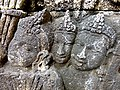 Borobudur - Divyavadana - 042 S, Clothes fall from the Sky (detail 2) (11701025523).jpg