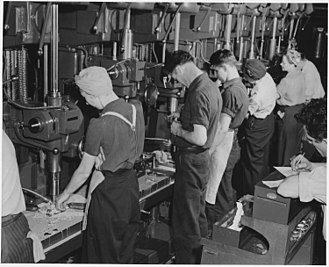 Willow Run - Turning out parts for bomber planes at Willow Run, 1942